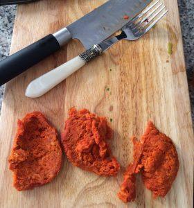 pollo con sobrasada de Mallorca a la naranja