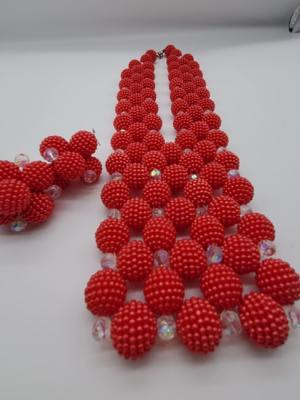 Round Beaded Necklace with Earrings02