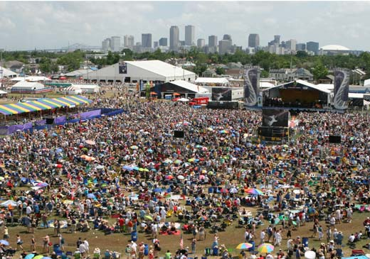 New Orleans Jazz Festival Seating