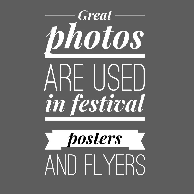 Promo photos - festivals