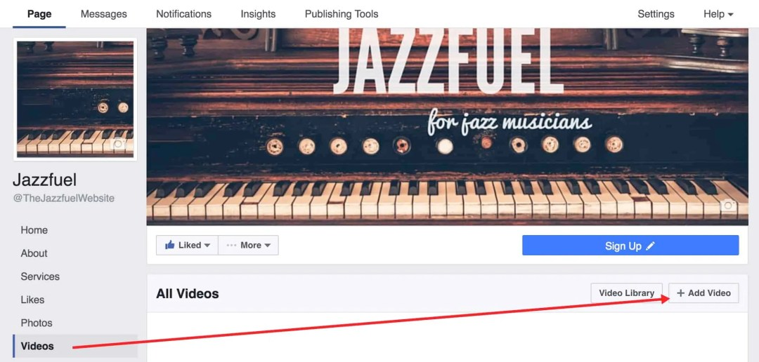 Add Video to your Facebook Artist Page