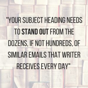 Emailing journalists