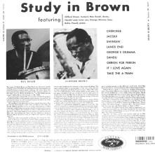 Clifford brown Study in Brown 1955 back