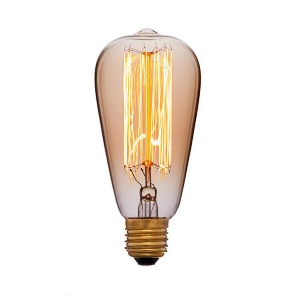 Грушевидная лампа Эдисона диаметром 6,4 сантиметра
