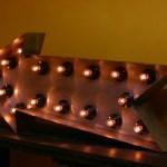 Стрела Jazzlight из металла с лампочками