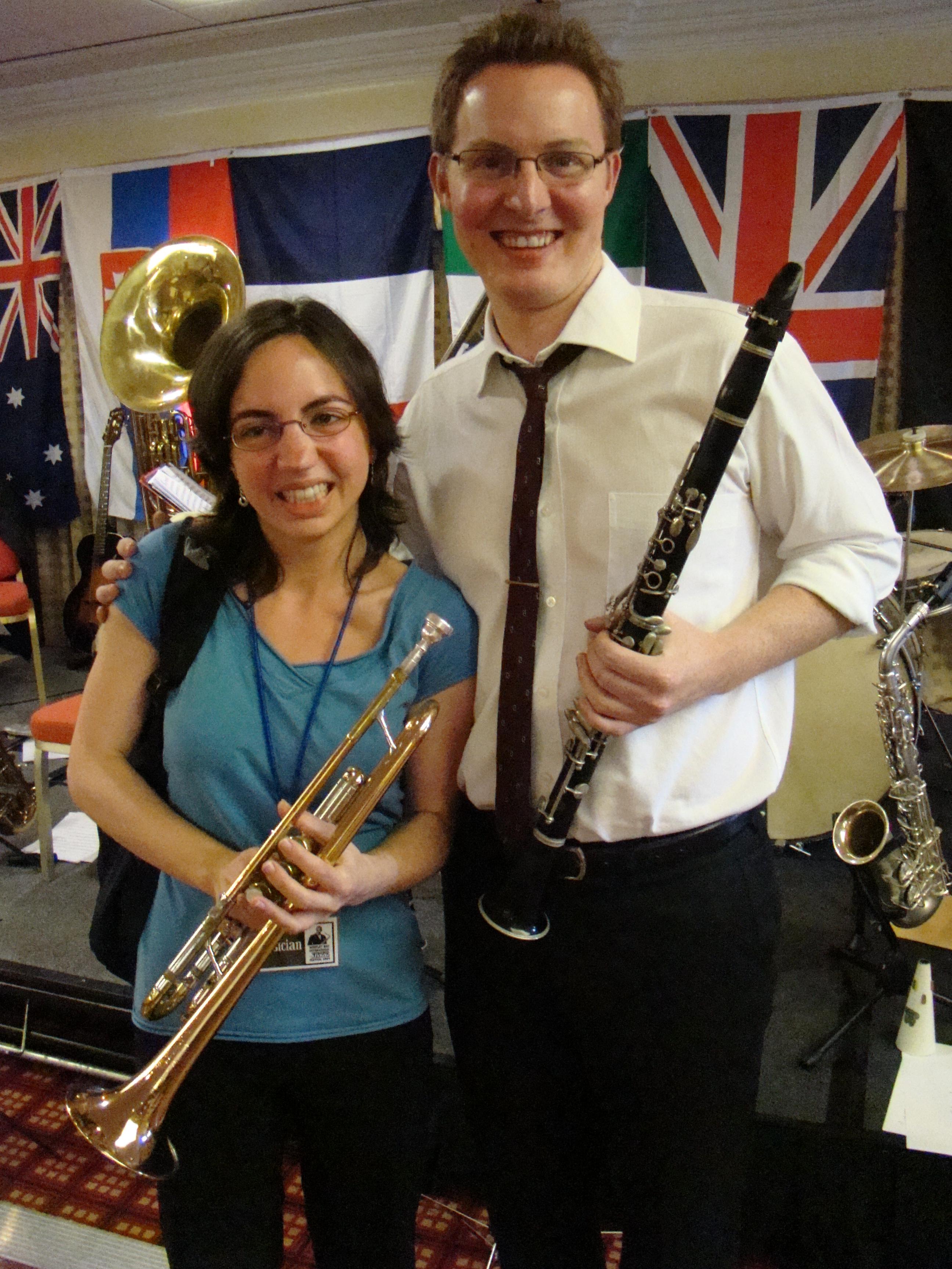 Anna Lyttle (trumpet), Michael McQuaid (reeds)