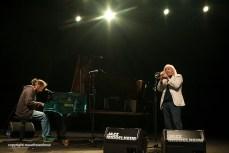 Enrico Rava en Stefano Bollani live op Jazz Middelheim 2014