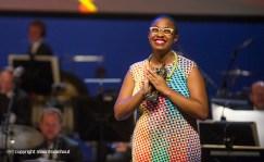 Rotterdam, 24 juni 2016 Uitreiking Edison Awards in Nieuwe Luxor Theater. Foto: Cécile McLorin Salvant wint de prijs van beste zangeres.