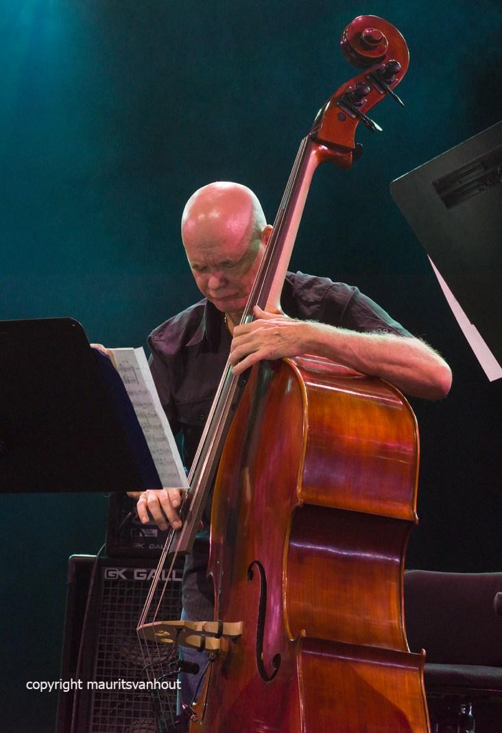 Gent, 8 juli 2017. Tijdens het jaarlijkse Gent Jazz Festival treedt BassDrumBone op. foto: Mark Helias