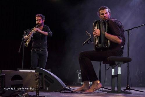 Vincent Peirani en Emile Parisien live at Gent Jazz 2017