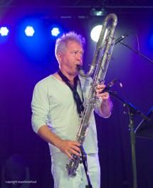 Gent, 8 juli 2017. Tijdens het jaarlijkse Gent Jazz Festival treedt het Trio Grande op