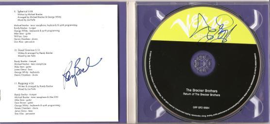 CD Brecker Brothers - autogram Randy