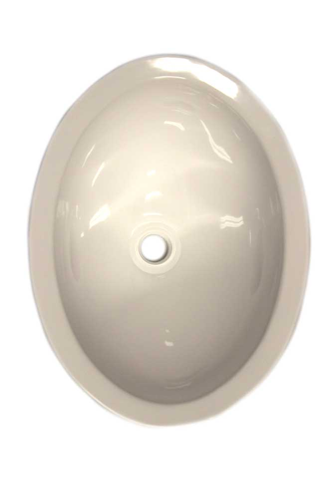 10 x 13 plastic oval sink white