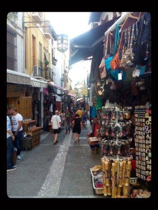 Narrow street in Albayzin