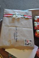 Marilyn traveled to Italy so gifts are stamped.