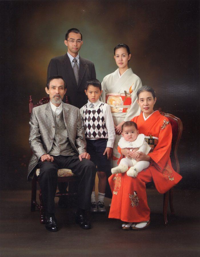 10年前に家族でお正月に撮影した写真。