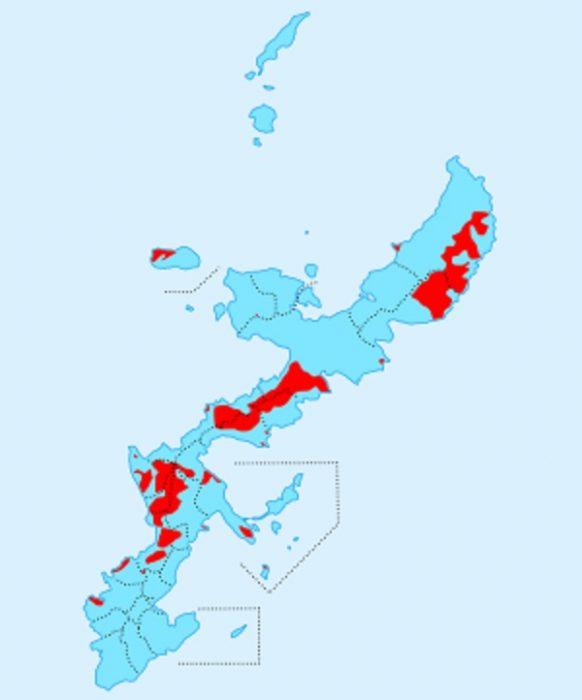 沖縄における在日米軍基地、在日米軍専用施設の面積は沖縄県面積の約10%、沖縄本島の約18%を占めている(ウィキペディアより)