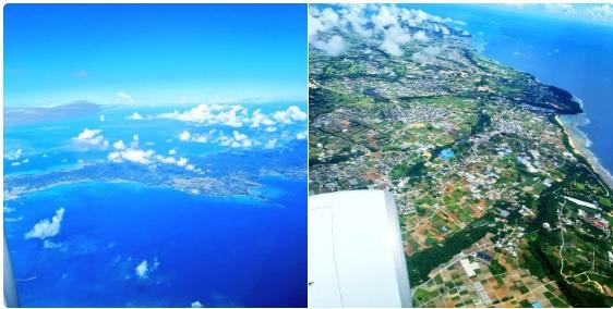 沖縄本島の上空写真