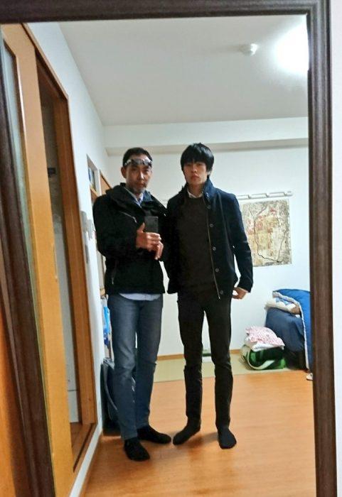 長男坊と僕(左)体型が良く似てます。