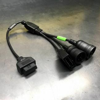 TEXA North American Truck OBDI, 6 & 9 Pin Deutsch Diagnostic Cable