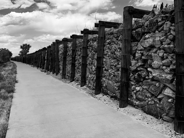 Retaining Wall Along Bike Trail