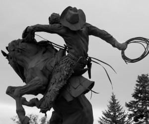Wyoming Cowboy Statue