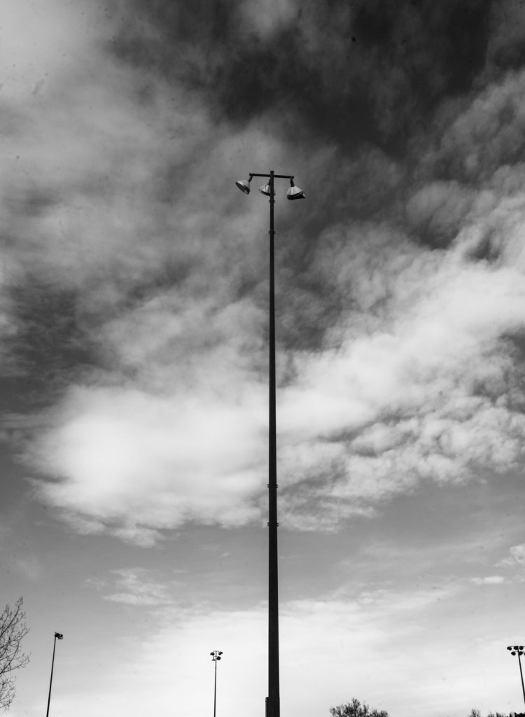 Clouds Behind Light Pole