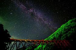 黒部峡谷電車、トロッコ終点で星空観測する「星空トロッコ」募集開始、大人...