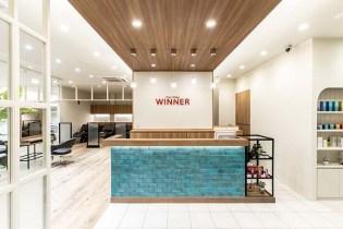 「Third Place」がコンセプトの『WINNER西店』。広々とした店内には個室スパルーム、フルフラットシャンプー台を完備