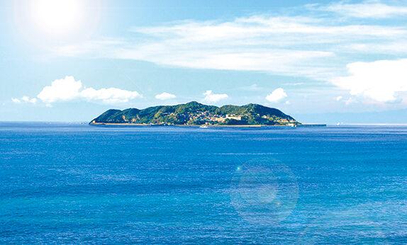 綺麗で栄養豊富な対馬海流が通る玄界灘に位置する加唐島