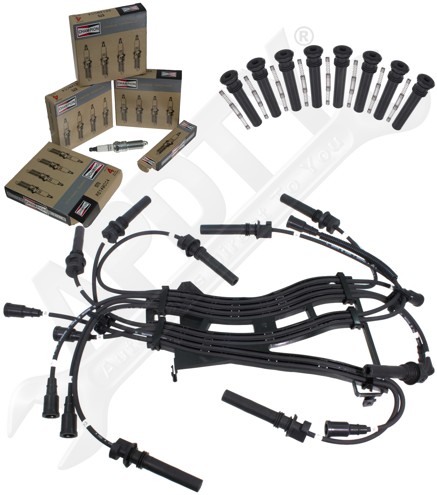 Dodge Ram Pickup 5 7l Hemi Tune Up Kit 16 Spark Plugs Ignition Wires Amp Cop Boots