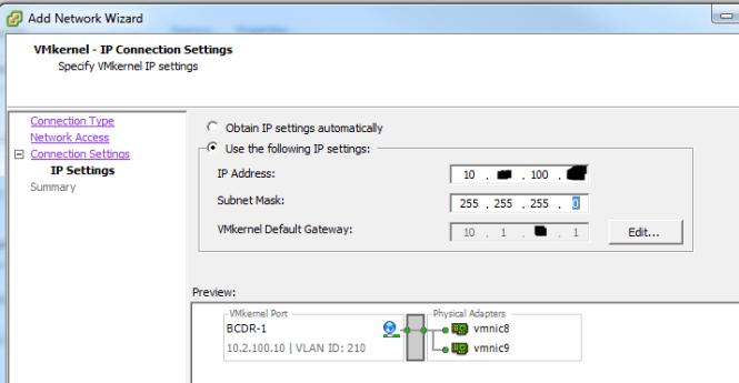 VMkernel-IP