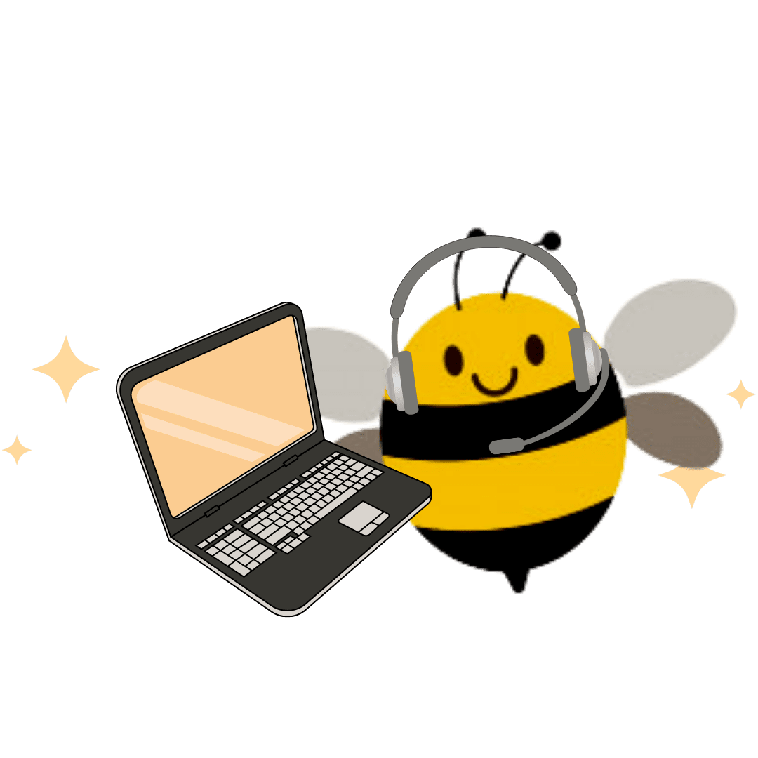 bee with pc