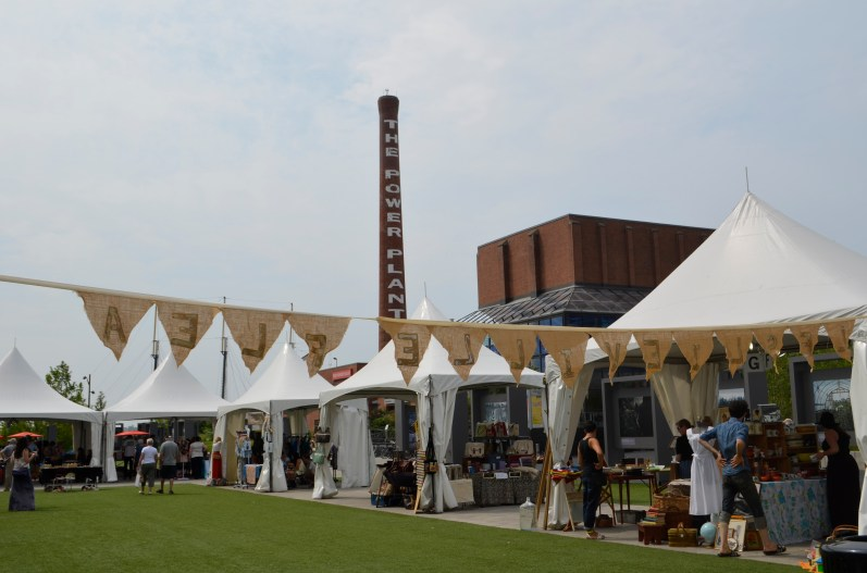 entrance to the Leslieville Flea, Harbourfront Centre, August 3, 2014