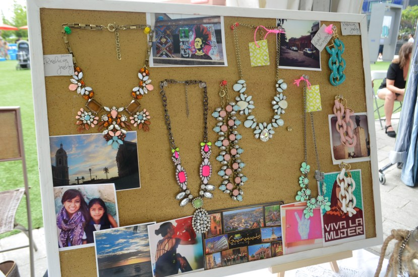 Revolucion Jewelry's inspiration/display board