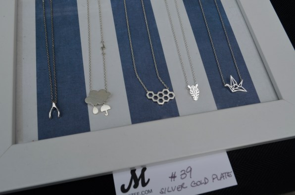 silver necklaces at Muizee
