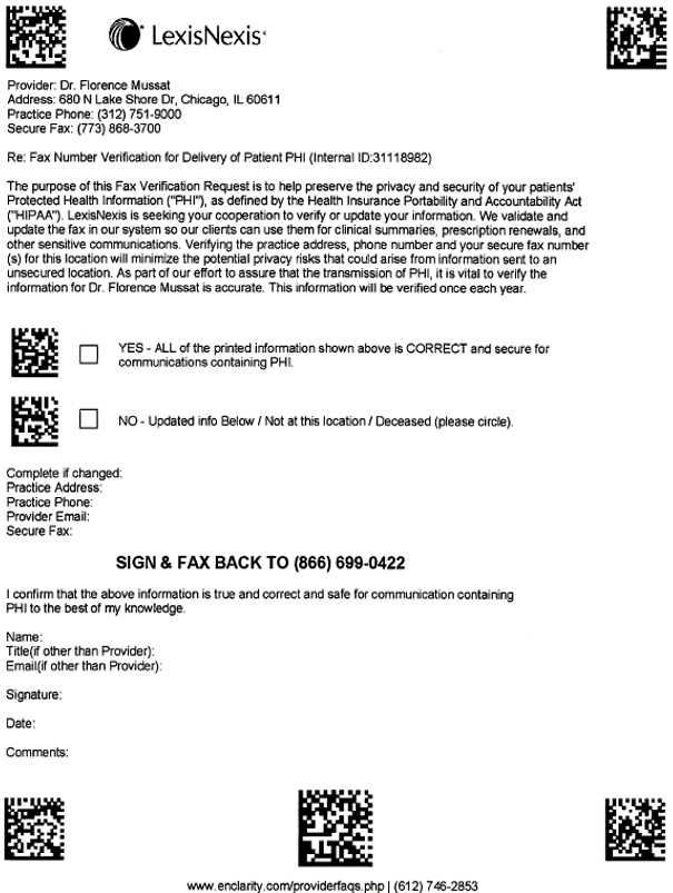 Mussat v. RELX - fax