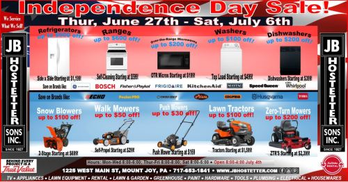 July 4 sale ad
