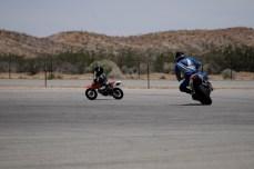 James chasing Kristian Jr.