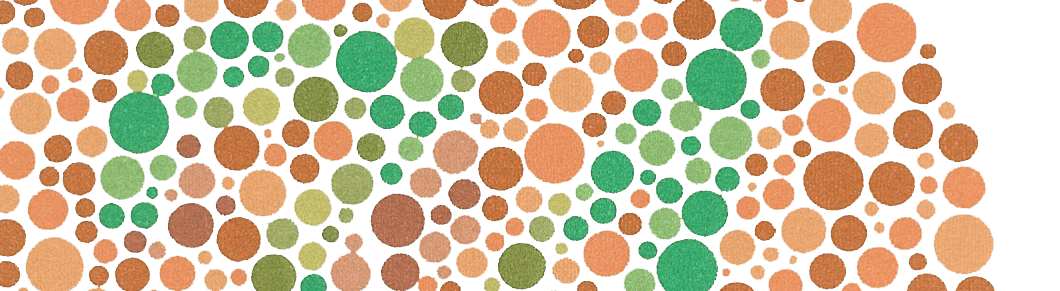 Ishihara plate for testing color-blindness.