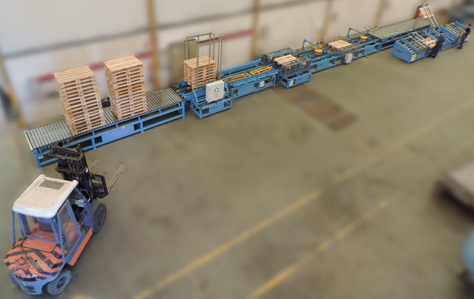Semi-automatic line for pallets JBJ