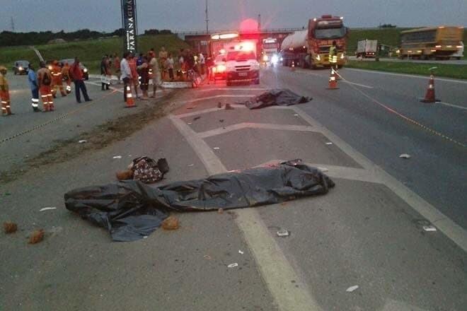 Trabalhadores morrem atropelados na BR-277 1