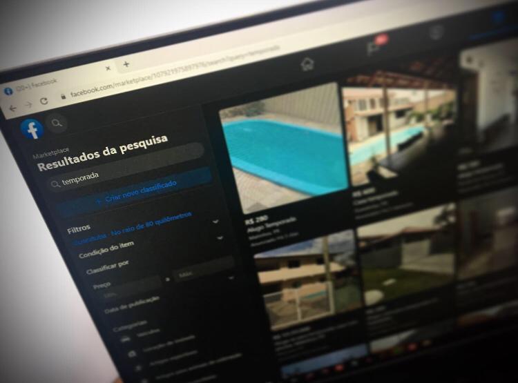 Anúncios online são risco para quem procura casa de praia para alugar 1