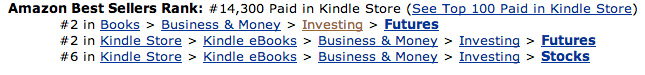 Amazon ranking for how to beat wall street trading audiobook