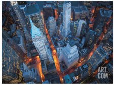 wall street aerial view