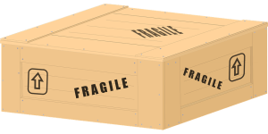 wooden fragile crate