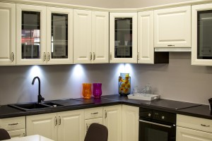 Update kitchen cabinets by adding lighting
