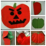 How to make a fuzzy-felt pumpkin for your toddler to decorate