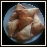 Cooking with your toddler: Simple vegetable samosas.