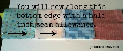 sewing rows together